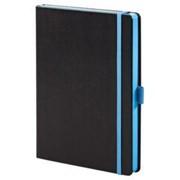 Ежедневник Tone недатированный, черный с голубым фото