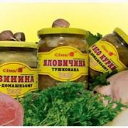 Мясо свинное с горохом, консервированное фото