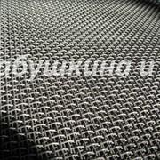 Сетка с квдратными ячейками из стальной рифленой проволоки фото