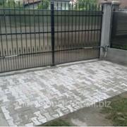 Ворота кованые с поликарбонатом №8 фото