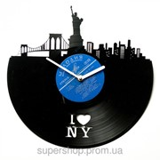 Часы настенные I Love NY 01 BL 30 фото