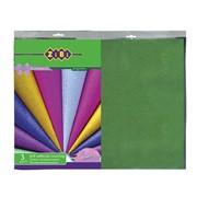 Пленка самоклеящаяся, 3 листа Zibi Блеск (36см*50см) зеленый фото