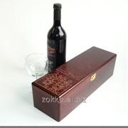 Упаковка для вина с металлическими петлями и магнитом, сосна 10 мм и фанера 4мм фото