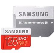 Карта памяти микро SDXC 128 Гб класс 10 UHS-I U3 EVO Plus - Samsung - с адаптером SD фото