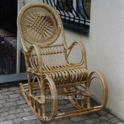 """Кресло-качалка из лозы """"Солнце"""" фото"""