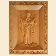 Икона деревянная резная ИР5 фото