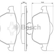 Тормозная колодка Bosch 0 986 424 481 фото