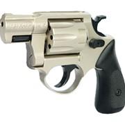 Револьвер ME-38 POCKET 4R, никель, пластиковая рукоятка фото