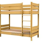 Кровать двухъярусная деревянная без ящиков фото
