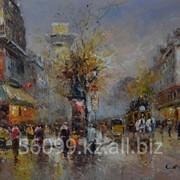 "Картина ""Парижские улочки"" 61х91, 91х121 фото"