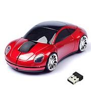 Беспроводная мышь в форме машины Porsche, Красный фото