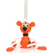 Прыгун попрыгун Деревянная игрушка Тигра на пружинке фото