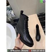 Ботинки Valentino черные на шнуровке фото