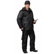 Костюм для охранных и силовых структур Охранник зимний (куртка длинная, полукомбинезон) чёрный фото
