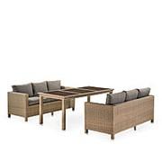 Комплект плетеной мебели T365/S65B-W65 Light Brown фото