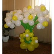 Композиции из шаров фото