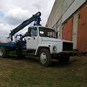 Автоэвакуатор Газон (ГАЗ-3309) с КМУ PM 12/ 12022 и ломаной платформой, 4х2 фото
