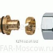 Концовка для пластиковых труб 20х2, гайка-серебро, артикул FL 0425 80214 фото