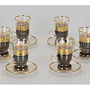 Чайный набор «Важное совещание», черный/золотистый фото
