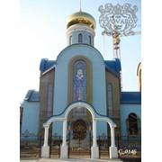Изготовление витражей церковной тематики фото