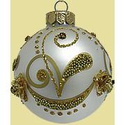 Елочные шары с логотипом, ручной росписью, декорированием по индивидуальному макету фото