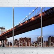 Модульна картина на полотні Манхеттен. Вечерній міст код КМ100180-084 фото