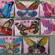 Бабочка с двойными крыльями с присыпкой на магните 20см 5192 фото
