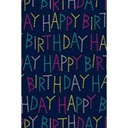 Бумага упаковочная Stewo Karim, 0.7 x 1.5 м, синяя День рождения фото