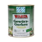 Огурцы консервированные WASTA, 75/80 9,7/ 5,6 кг, Германия фото