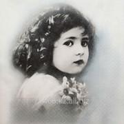 Салфетка для декупажа Винтажная девочка фото