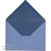 Конвертик, светло-голубой/темно-синий фото