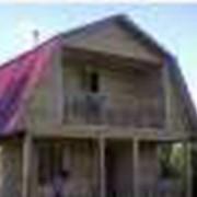 Классический дом 6 на 6 с ломанной крышей и мансардом,в данном проекте представленна открытая терасса и лоджия. фото
