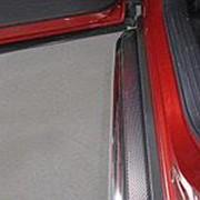 Пороги Mazda CX-9 2017-наст.время (с площадкой нерж. лист 60,3 мм) фото