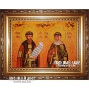 Икона Петр И Февронья - Покровители Семьи, Помощники От Бесплодия В Семье Код товара: Оар-137 фото