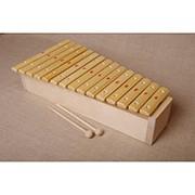 Ксилофон диатонический До мажор (15 пластин, на высоком резонаторе, ель) фото