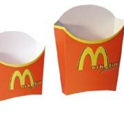 Упаковка для картошки фри из картона фото