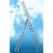 Лестницы стремянки трехсекционные универсальные фото
