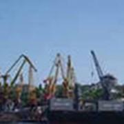 Перевалка грузов в морском порту. фото