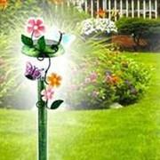 Садовый фонарь и украшения для сада на солнечной батарее, пластиковый фото