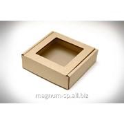 Коробка для конфет или пряника с прозрачным окном фото