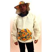 Куртка пчеловода с лицевой сеткой фото