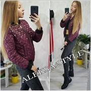 Женская модная короткая куртка с бусинами, 3 цвета фото