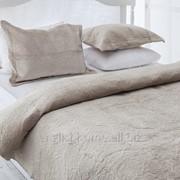 Покривало Ronny для ліжка оксамит 240x260 бежевий фото