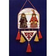 Сувениры, Панно АЛКА войлочная с бархатными фигурками, Сувениры разные. фото
