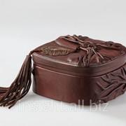 Шкатулка (натуральная кожа), Art. No 013-07-01-13 фото