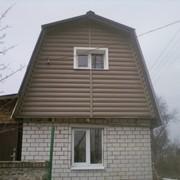 Обшивка сайдингом дома, коттеджи, здания, фронтоны фото