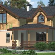 Проект комбинированного дома 34-28 фото