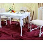 Стол обеденный Viitorul, белый, 1250 mm x 720 mm фото