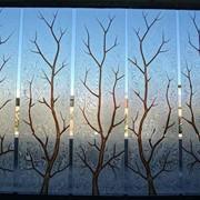 Стекло с серебряным подрывом по технологии Морозко фото