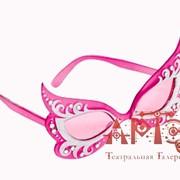Очки Жасмин со стразами блестящие розовые фото
